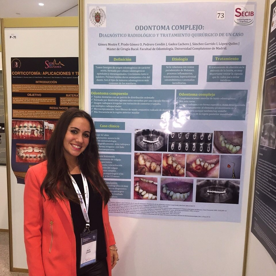 Dra. Felia Gómez Mestre. Odontóloga, Máster en cirugía oral e implantología ( UCM ).